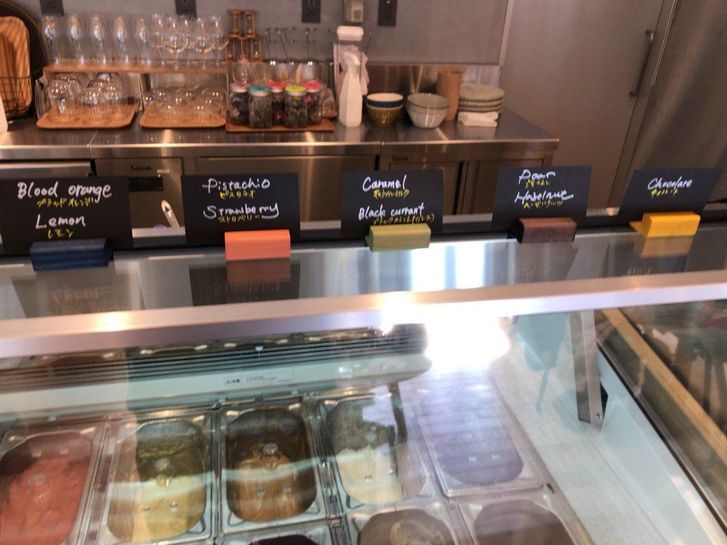 リゾナーレ那須のPOKOPOKOのカフェのジェラート