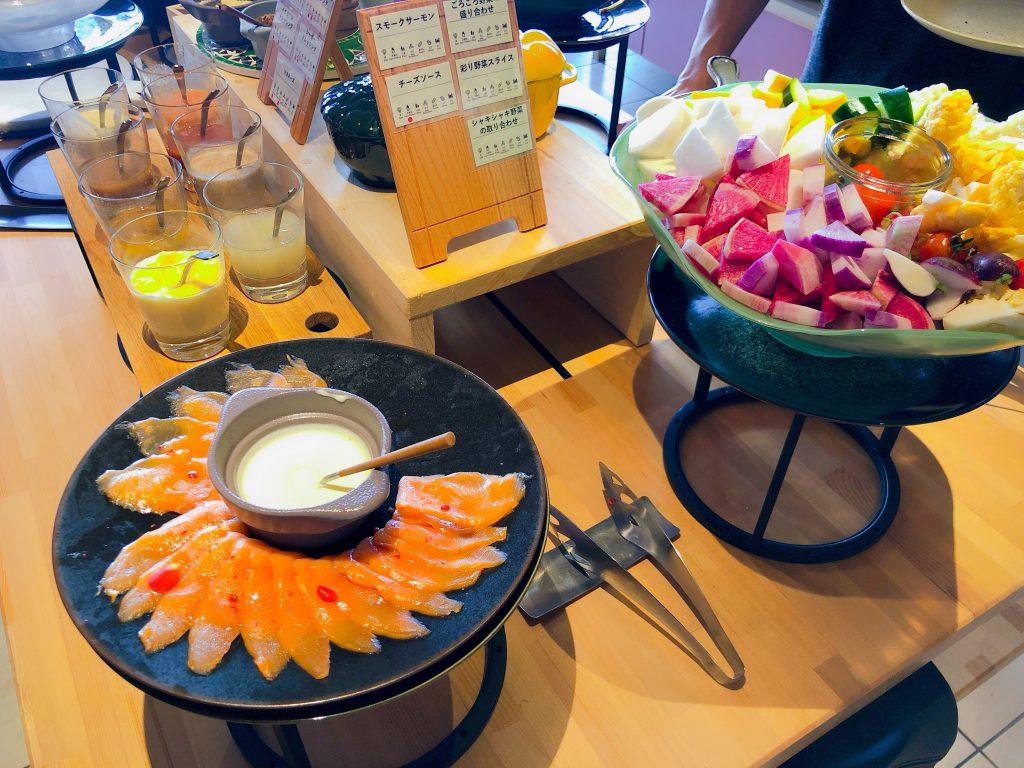 朝食ビュッフェで食べられる新鮮採れたてお野菜