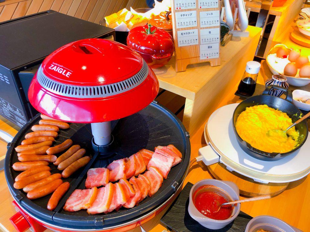 朝食ビュッフェの洋風おかず達