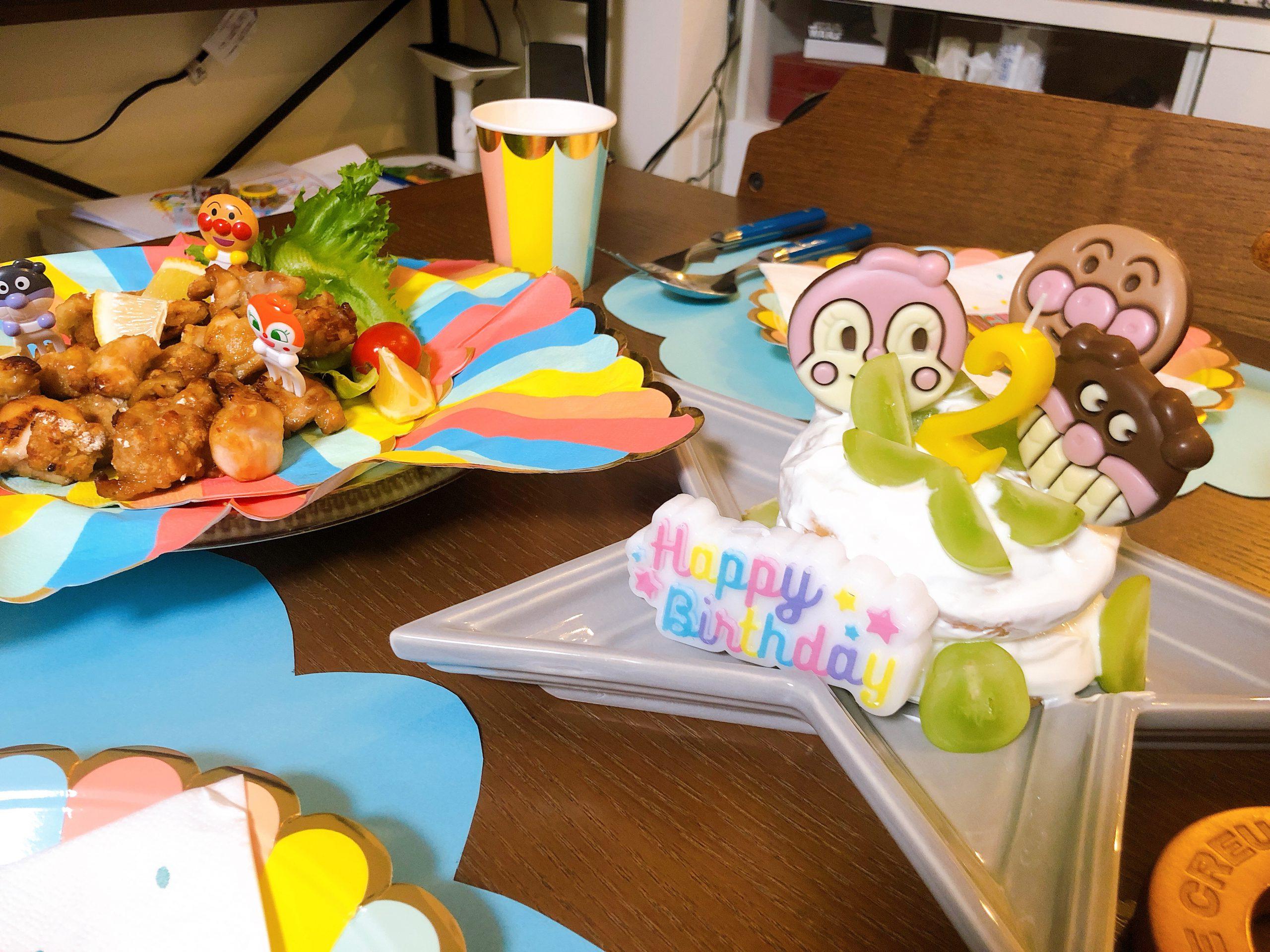 アンパンマン手作りケーキ